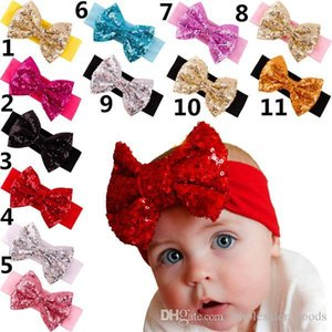 Girls Headbands Top Hair Baby Head Bands Girl Kid Pearl Rose Bow Lace Flower Elastic Hairband Cute