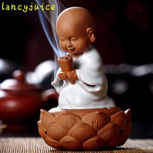 Quemador de incienso de cerámica caliente pequeña bobina de incienso sándalo incienso estufa decoración enviar 4 unids grano de sándalo Laoshan