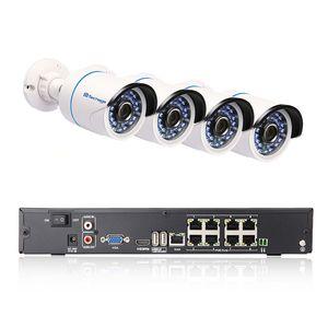 Full HD 8CH 1080 P POE Kit CCTV NVR CCTV Sistema de Câmera IP Interna Ao Ar Livre À Prova de Intempéries IR P2P P2P Video Security Vigilância