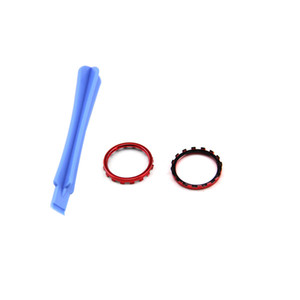 For Xbox One Elite Controller Chrome Thumbstick Accent Rings trim mod 2PCS Teardown Rod tool electroplating Red Blue Gold Silver Solid bla