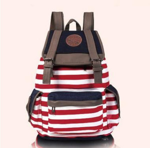 S5Q Women's Hasp Striped Bookbag Accessories Zaino da viaggio Donna Chirstmas School Bag Satchel Canvas Zaino AAACYV