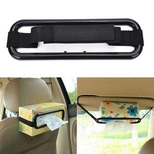 Wholesale- 1 Pc Practical Plastic Car Sun Visor Tissue Paper Box Holder Auto Seat Back Clip Bracket Black Tissue Box Travel Accessories