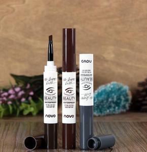 전문 브랜드 novo 3 색 눈썹 크림 마스카라 젤 방수 눈 썹 프로 메이크업 브러쉬 SH-P01와 뷰티 화장품 펜 확장기