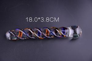 Nouveau Sexy Queen Glass Dildo Dildo Dispositifs de sexe Glans G-Spot Jade Glass Masturbation Cristal Femme Toy Udurg