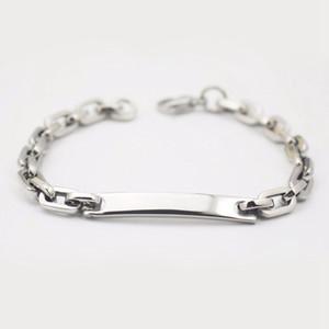 316L Steel Custom Young Lady Bracelet Fashion Girls Jewelry Unisex Child Chain Link Bracelet Children Gift Wristbands Engravable