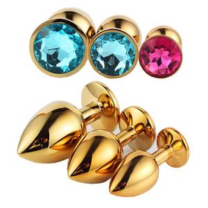 3 ألوان عشوائية الحجم ، ألعاب معدنية مصغرة الشرج ، التوصيل بوت ، الخرز الغنيمة ، الفولاذ المقاوم للصدأ + مجوهرات كريستال ، ألعاب مثيرة