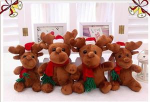 Presentes Eco-Friendly Natal bonito Elk pelúcia Plush Toy Plush Doll crianças presentes bonitos alces aniversário do Natal Toy Decorações de Natal