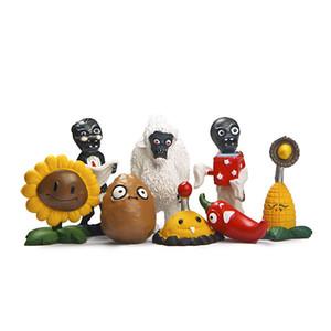 Растения против зомби фигурки игрушки ПВХ Minfigures 8 шт./лот 1.5-3inch