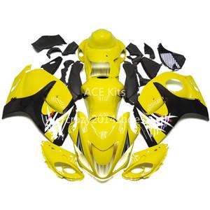 5 ücretsiz hediyeler Yeni ABS motosiklet Fairing Kitleri 100% SUZUKI GSXR1300 Hayabusa 2008-2014 Için Fit iyi güzel sarı ve siyah Makale no.328