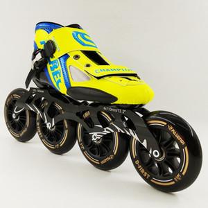 Оптово-НОВОЕ прибытие Профессиональная высокоскоростная обувь для коньков Женщины Мужчины Большие 4 * 110 мм Колеса Роликовые коньки Ботинки для роликовых коньков Взрослые Детская обувь