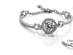 Сердца Стрелки Подвеска Алмазных браслетов браслеты Vintage CZ браслет для женщин Бутик Super Flash Jewelry Рождественского подарка