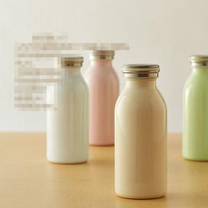 350ML / 12Oz 우유 병 누수 방지 진공 절연 우유 병 미니 여행 스포츠 물 병 학교 아이 학생 선물