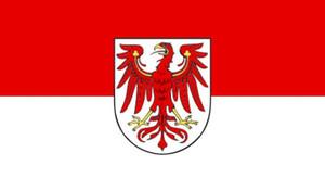 Allemagne Brandenburg Drapeau 3ft x 5 pi Polyester Flying Banner 150 * 90cm extérieur de drapeau personnalisé