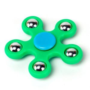 Yeşil Beş Köşeli Yıldız Spinner El Tri Spinner Fidget Parmak YH797-2