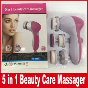 5 in 1 multifunzionale elettrico viso detergente viso pulizia spazzola per la cura della pelle pennello cura bellezza massaggiatore scrubber