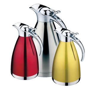 4 Renk 1L 1.5L 2L Kahve Termos Kupa Paslanmaz Çelik Demlik Vakum Şişeler Termos Bardaklar Garrafa Termica Termo Sıcak Su Şişesi