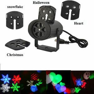 Noel Duvar dekorasyonu lazer 4 nalın kart lamba led projektör ışıkları Cadılar Bayramı için aşk şeker kafatası snowflake ışıklar