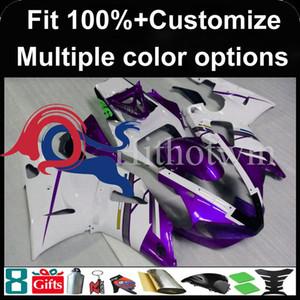 Injeção molde roxo capuz conjunto branco motocicleta para Yamaha YZFR1 2000-2001 00 01 YZF R1 2000 2001 00-01 Fairing plástico ABS