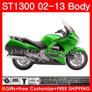 Kit für HONDA STX1300 ST1300 Pan European grün schwarz 07 08 09 10 11 12 13 93NO19 ST-1300 ST 1300 2007 2010 2010 2010 2012 2012 Verkleidung