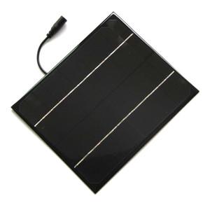 높은 Quailty 6W 12V 모노 태양 전지 5521DC 케이블 미니 DIY 태양 전지 패널 시스템 배터리 충전기 교육 키트에 대 한 무료 배송