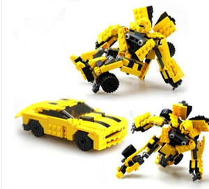 Деформация шершней авто машины держать собранный 8711 игрушки автомобили робот по сборке блоков