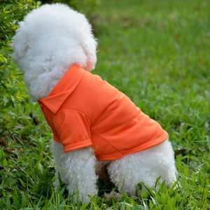 New Pet Dogs Clothes POLO Cotton Jacket T Shirt Size XS S M L XL 4 Colors Christmas Gifts Free Shipping