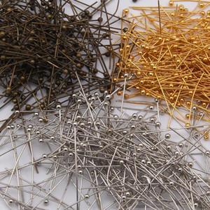 5000 stücke Diy Schmuck Kupferkopf Pins Entdeckungen für Schmuck Machen Ohrringe 6 Größe 3 Farbe Wählen