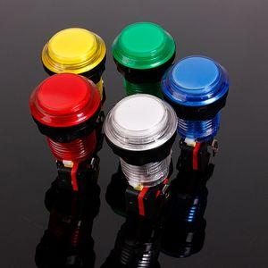 12V 25A 32мм маленький круглый круглый освещенный аркадный видеоигра кнопочный переключатель со светодиодной лампой