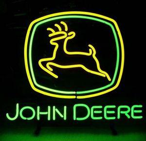 Insegna al neon della barra di birra di vetro reale di John Deere di nuovo modo Handcraft l'insegna al neon 19x15 !!! Migliore offerta!