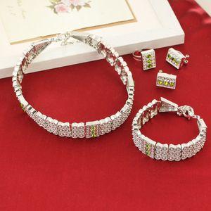 Brillante conjunto de joyería etíope de plata Gargantillas Collar Pendientes de pulsera Anillo chapado en plata Habesha Joyas de Eritrea