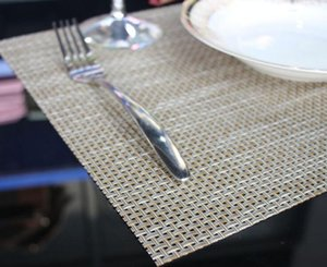 isolamento térmico de Mesa PVC Weave Placemat Kitchen Dinning bacia Dish Waterproof Pad Mat Tabela