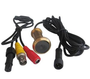Caméra de porte filaire lentille de la caméra 0.008Lux en laiton 90 degrés porte Viwer Peelhole Camcorder