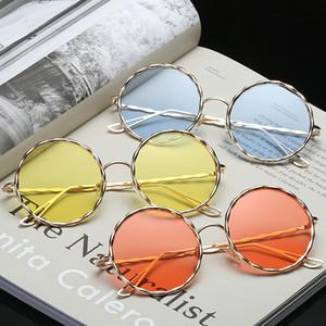 2017 nuevas gafas de sol afiladas de metal de alta calidad, gafas de sol espirales redondas de moda al por mayor