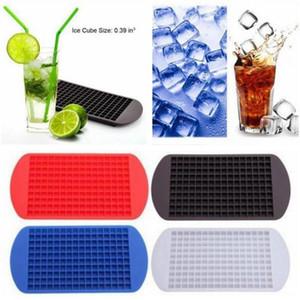 160 Mini Ice Cube Tray Frozen Silicone Ice Muffa Cucina Strumento Silicone Cube Tray Quadrato Stampo Ice Maker Stampo al cioccolato KKA1528