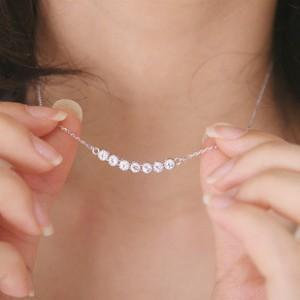 Vente en gros-2015 La dernière mode féminine en argent plaqué collier en cristal sourire petite étoile pendentif collier bijoux en gros livraison gratuite