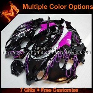 23colors + 8Gifts capucha de la motocicleta de las llamas púrpuras para Suzuki GSX600F Katana 2003-2006 GSX600F 03 04 05 06 carenado de plástico ABS