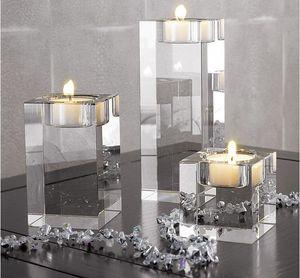 Bola de vidrio engrosamiento a prueba de viento candelabro candelabro dentro de la decoración de velas de cristal de cristal Boda romántica europea para Buda