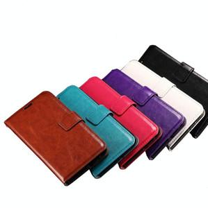 iPhone 7 için cep telefonu Kılıfları artı Doku Yatay Kapak Kılıf Samsung Galaxy S8 için Tutucu ve Kart Yuvaları ile