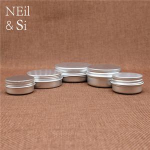 Aluminium Jar Vide Cosmétique Lotion Crème Argent Conteneur Rechargeable Lip Lip Batom Voyage Ensemble Tins Bouteilles 5 ~ 50g