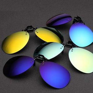 Клип Солнцезащитные очки Myopia Поляризованный объектив Ультра-Свет TNT Цвет Солнцезащитные Очки 10 На УВ400 Унисекс Fedeex Очки с упаковкой Свободный Вождение T ANFP