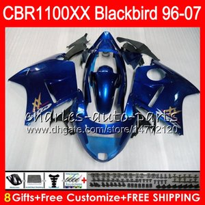 HONDA Blackbird 용 바디 글로시 블루 CBR1100 XX CBR1100XX 02 03 04 05 06 07 81NO50 CBR 1100 XX 1100XX 2002 2003 2004 2005 2006 2007 페어링