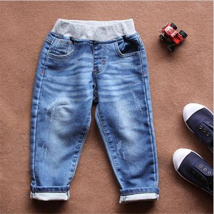 Childrens Jean Trousers Baby Jeans baby Cotton Elastic Medium and Small children pants tide 2017 high quality kid218 dhl