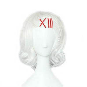 WoodFestival juuzou suzuya anime japonés resistente traje peluca tokyo ghoul peluca blanca calor corto cosplay pelucas de pelo sintéticas peluca flequillo