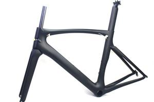 Cadres de vélo de route en carbone Cadre de vélo de course de finition noir mat Finition cadre de vélo Sans décalques, manteau transparent