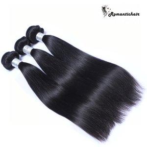 9A 학년 버진 브라질 스트레이트 헤어 페루 인도 말레이시아 헤어 번들 자연 색상 인간의 머리카락 확장 8-30 인치 더블 wefts