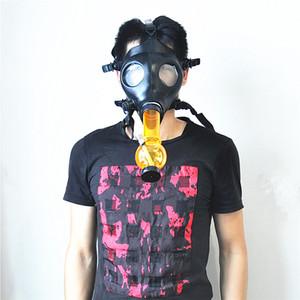Silikon-Maske Bong Kühler Schädel Acryl-Pfeife Gasmaske Rohre Acrylbong Tabacco Shisha