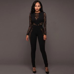 Hot sale Autumn and winter new women broke the case lace stitching back high waist piece pants NJ005