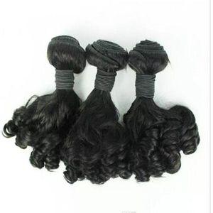 Aunty Funmi Hair Unprocessed Brasileña Aunty Funmi Hair Bouncy Curls Extensión del pelo humano 3PC / Lot para las mujeres africanas Envío rápido