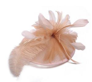Zarif Gelin Aksesuarları Tüy Farklı Renk Popüler Gelin Düğün Şapka Güzel Düğün Malzemeleri Renkli Yeni Gelin Şapkaları