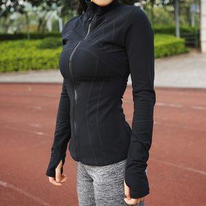 Toptan-Kadınlar Öğrenci Kız Spor Yoga Koşu Fermuar Ceket Spor Eşofman Eğitim Ceket Uzun Kollu Tişörtü